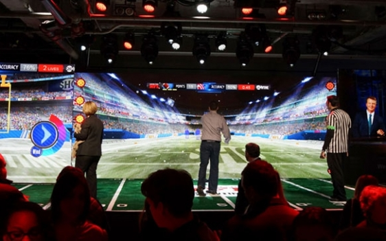 Inside nfl event experience game stage