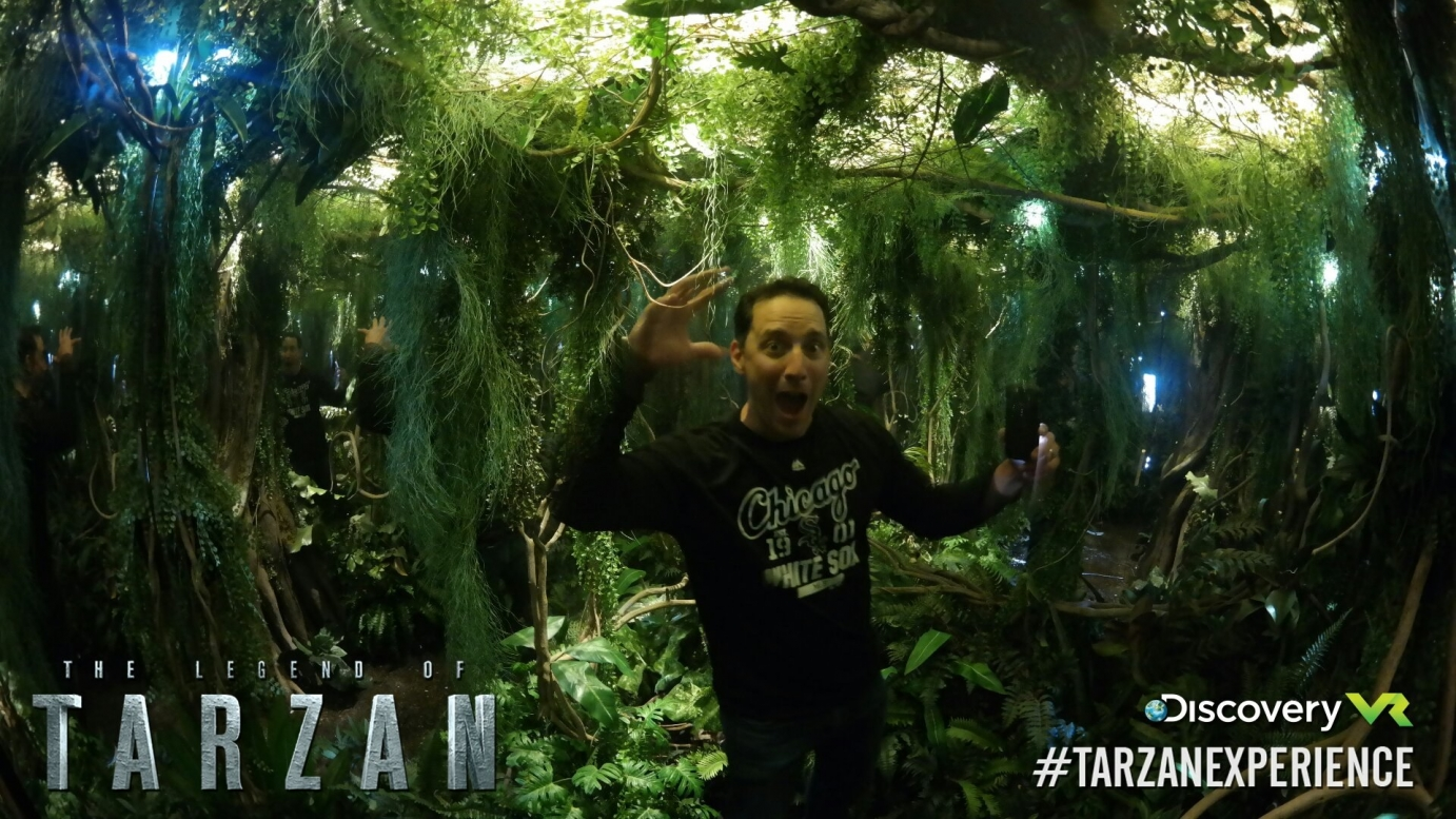 Man inside the Tarzan experience
