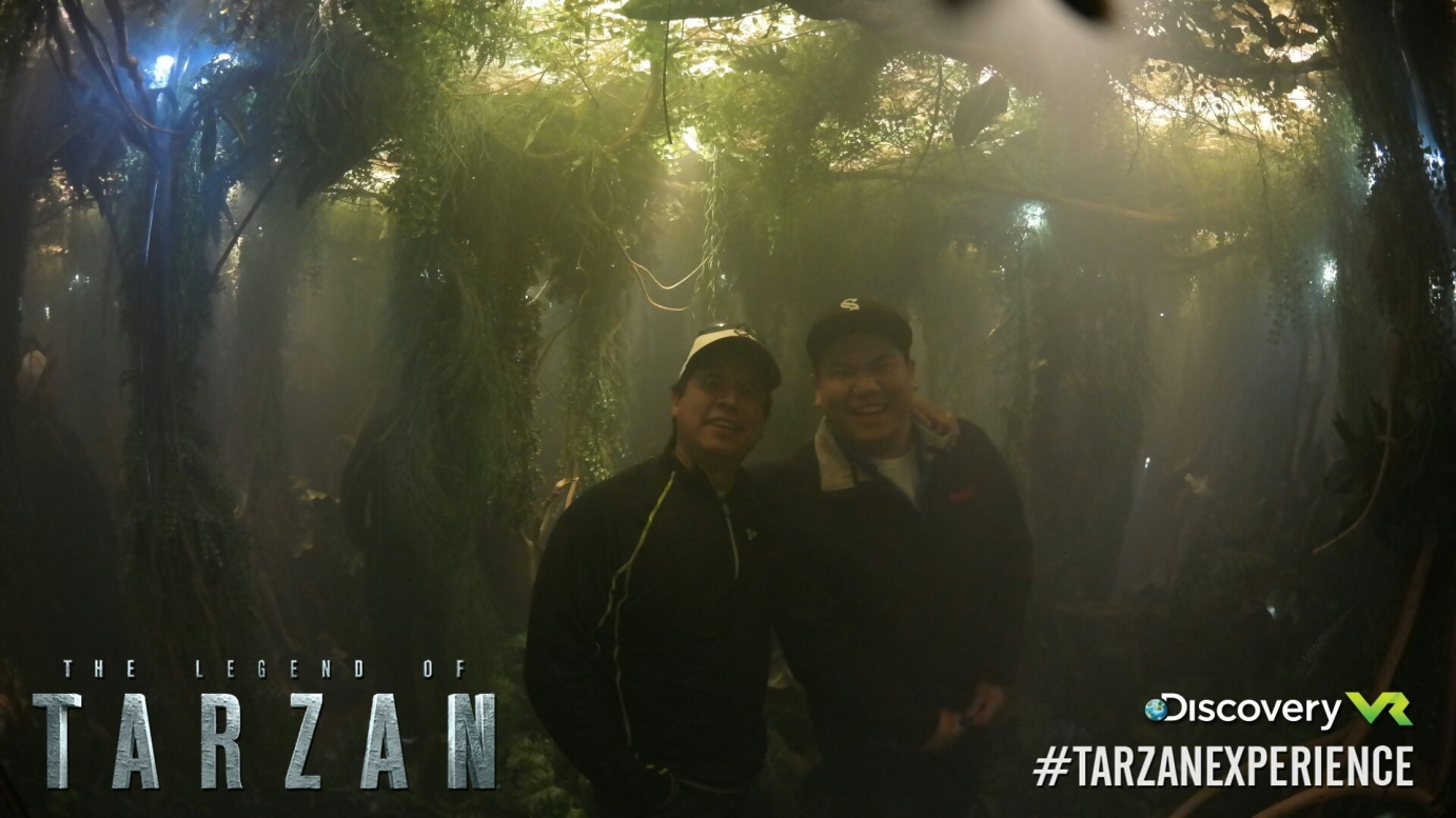 Men in the Tarzan experience
