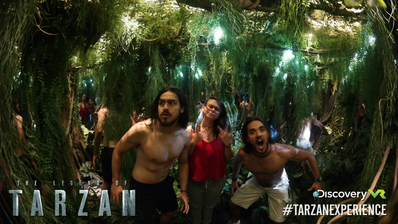 Group of people in the Tarzan experience