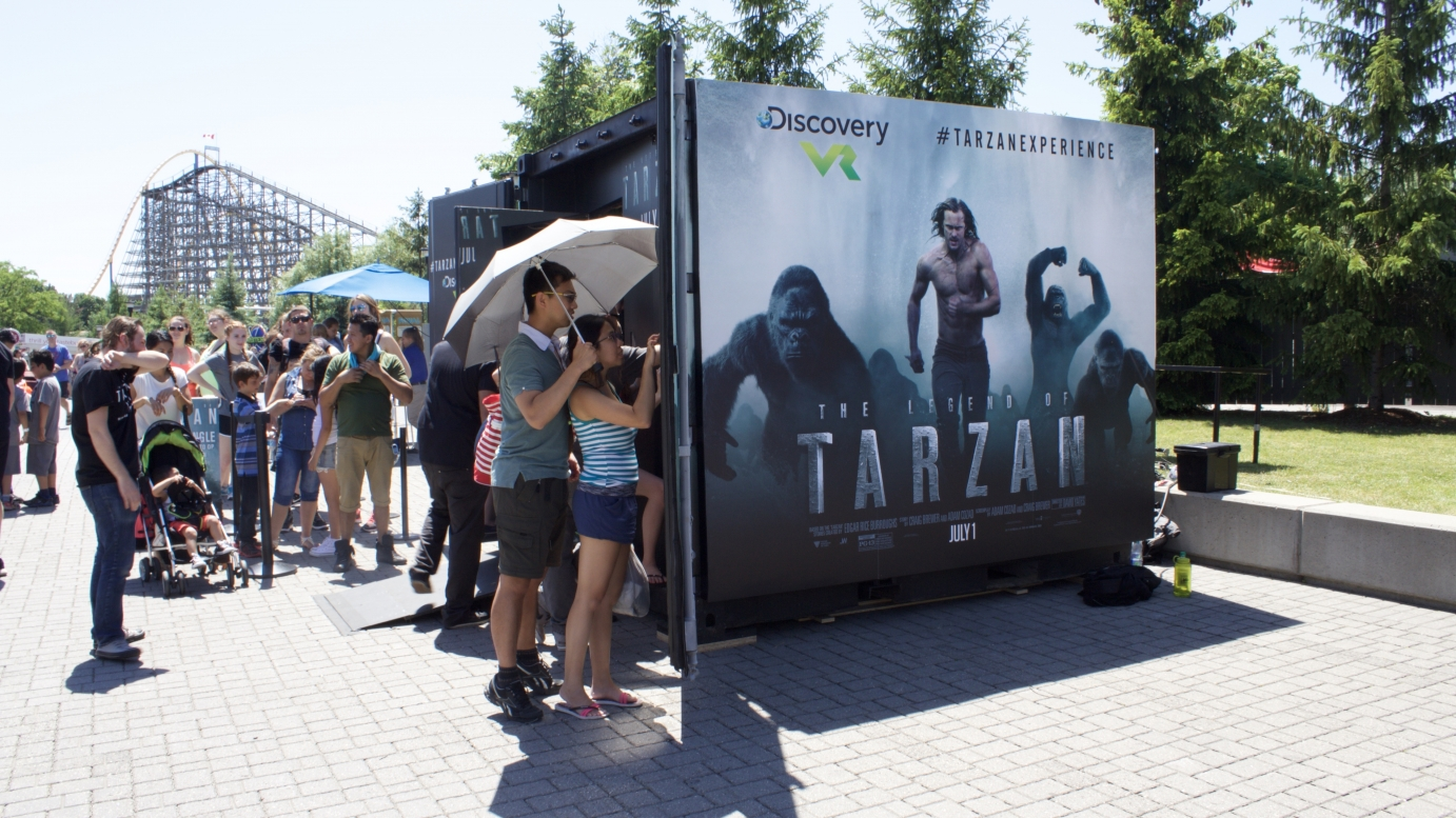 Users entering Tarzan experience